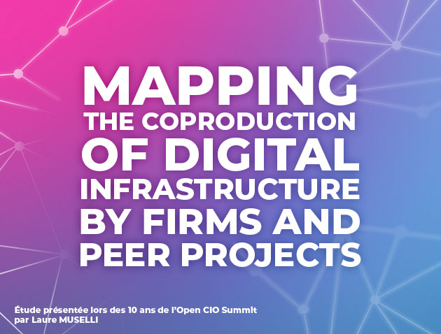 Mapping the coprodution of Digital Infrastructure by firms and peer projects